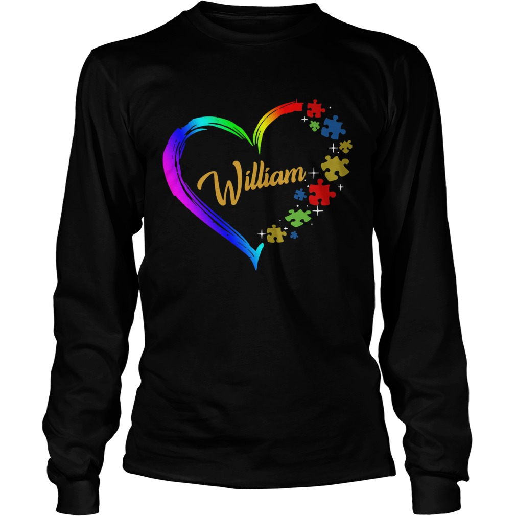 Autism Puzzle Heart Personalized Long Sleeve