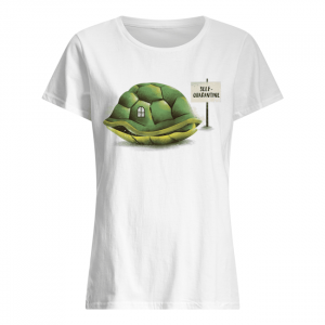 Stay Home Green Turtle Shirt Classic Women's T-shirt