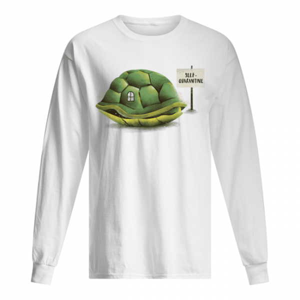Stay Home Green Turtle Shirt Long Sleeved T-shirt